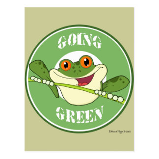 Froggy Going Green Postcard