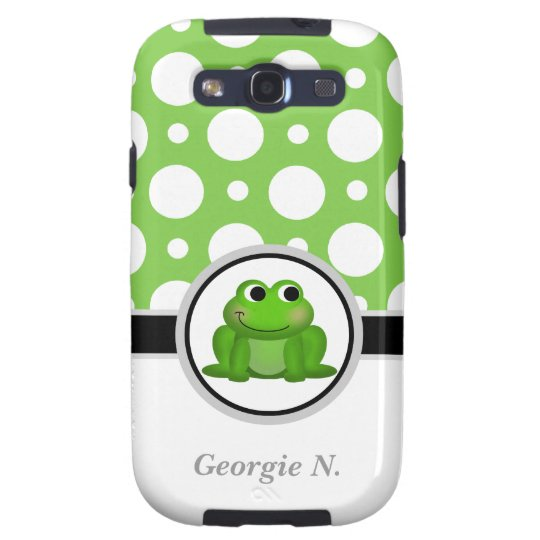 Froggy Green Polka Dot Samsung Galaxy S3 Case