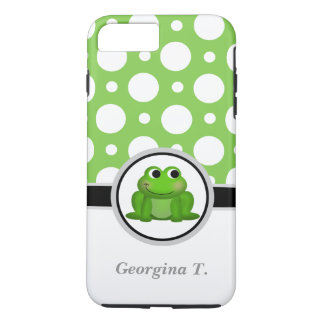 Froggy Green & White Polka Dot iPhone 7 Plus Case