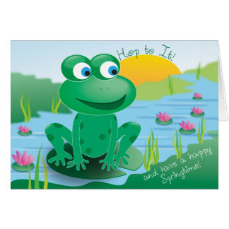 Froggy - Greeting Card