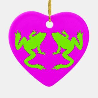 Froggy Heart Ornament Magenta