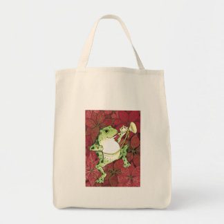 Froggy Holiday Grocery Bag