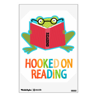 Froggy Hooked on Reading Room Stickers