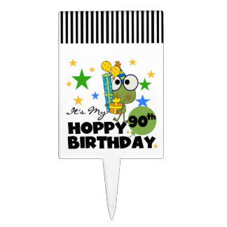 Froggy Hoppy 90th Birthday Cake Topper