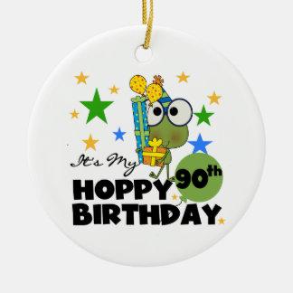 Froggy Hoppy 90th Birthday Ornaments