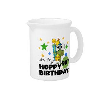 Froggy Hoppy 90th Birthday Drink Pitcher