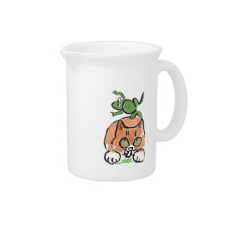 Froggy is Leaping Over the Kitten Beverage Pitchers