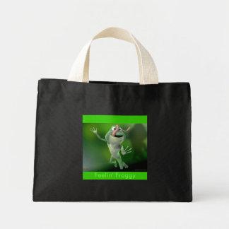 """froggy jump """"Feelin' Froggy"""" Canvas Bag"""
