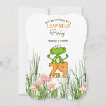 Froggy Leap Year Party February 29th Invitation