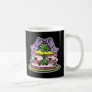 froggy lindo de la torta de cumpleaños taza de café