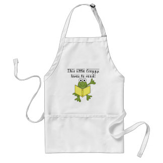 Froggy Loves to Read T-shirts and Gifts Adult Apron