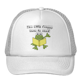 Froggy Loves to Read T-shirts and Gifts Trucker Hat