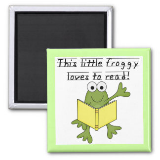 Froggy Loves to Read T-shirts and Gifts Refrigerator Magnet