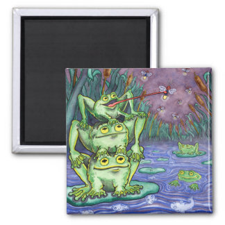 Froggy Night Refrigerator Magnet