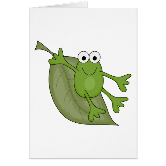 froggy on leaf card