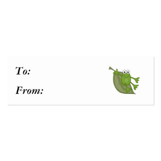 froggy on leaf mini business card