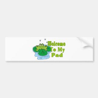 Froggy Pad Bumper Sticker