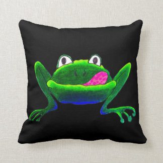 "Froggy ""Phraug"" Throw Pillow"