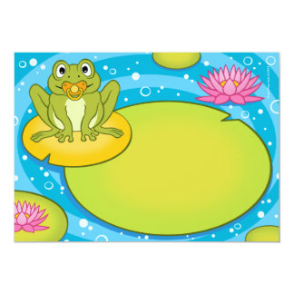 Froggy Pond Baby Shower Invitations