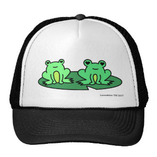 Froggy Pond Frogs Hat Black
