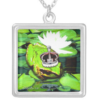 Froggy Prince Silver Plated Necklace