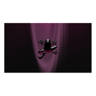 Froggy púrpura personal o tarjetas de visita