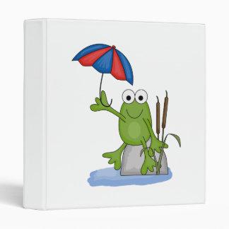 """froggy que se sienta debajo del paraguas carpeta 1"""""""