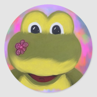 Froggy Round Stickers