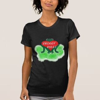 Froggy Rules,  Frog & Heart on Lily Pad Tshirt