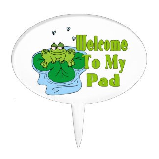 Froggy Says Welcome To My Pad Cake Topper