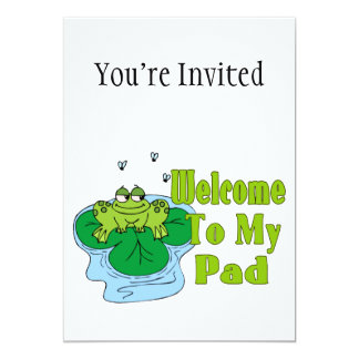 Froggy Says Welcome To My Pad Card