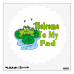 Froggy Says Welcome To My Pad Wall Decal