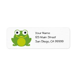Froggy sonriente etiquetas de remite