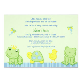 Froggy Tales Frog Custom Baby Shower Invitations