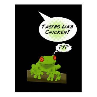 Froggy tastes like chicken. postcard