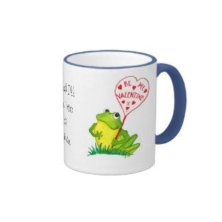 Froggy Valentine Mug. Ringer Coffee Mug