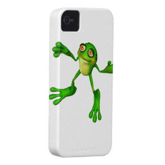 Froggy verde lindo iPhone 4 Case-Mate funda