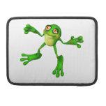 Froggy verde lindo fundas para macbook pro