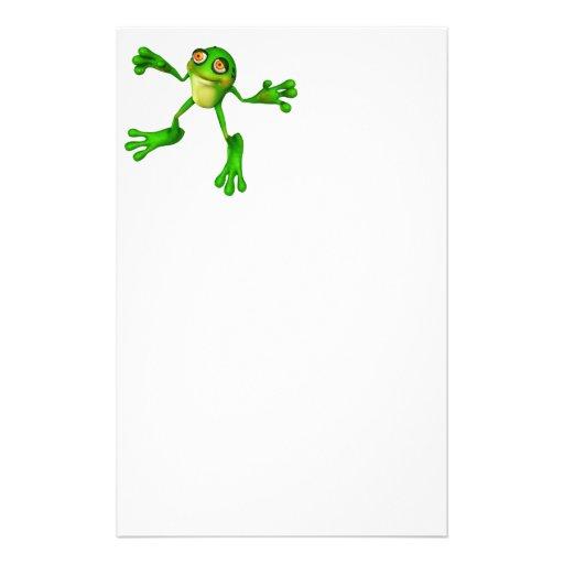 Froggy verde lindo papeleria de diseño