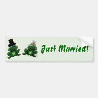 Froggy Wedding - Bumper Sticker Car Bumper Sticker