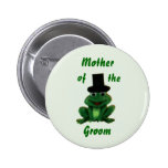 Froggy Wedding - Groom's Family Button - Style 2