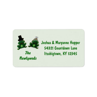 Froggy Wedding - Newlywed Address Labels