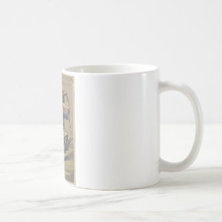 Froggy went a' courting classic white coffee mug