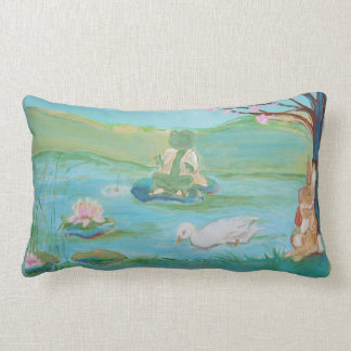 Froggy went Fishing Nursery Decor Pillow