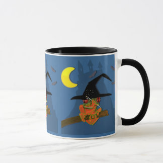 Froggy witch casts a spell mug