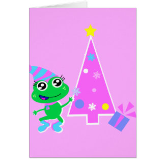 froggy with tree screen greeting card