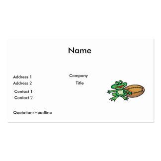 froggy y fútbol tarjetas de visita