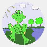 froggypic etiqueta redonda