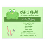 Froggyville Cute Frog Baby Shower Invitation