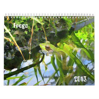 Frogs 2013 calendar